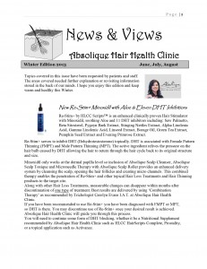 Winter 2013 Newsletter by Absolique Hair Health Clinic - Hair Loss Treatments